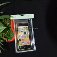 Transparent pvc waterproof bag Case for phone