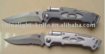 LED folding knife