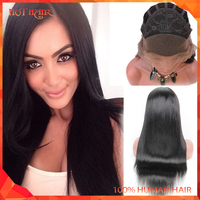 Silky Straight Human Hair Wig Brazilian Virgin Lace Front Wigs Natural Hairline