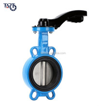 Corrosion resistant Stainless Steel Lever Handle wafer Butterfly valve