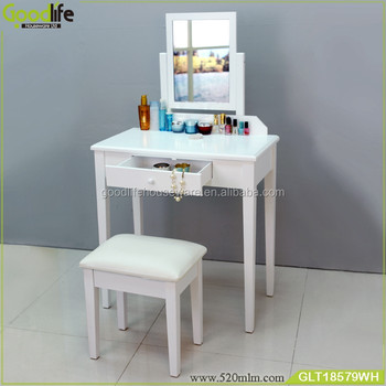 Wooden furniture bedroom white makeup table simple design makeup vanity table wholesale