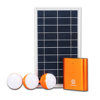three bright LEDS multifunction Aluminum small solar panel 3pcs LED 130lm solar lighting systems