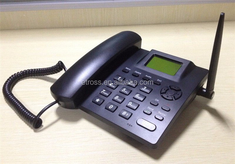 1 Sim card GSM / GPRS desk phone (Quad band 850/900/1800/1900MHZ)