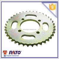 Best price colored Motorcycle chain and sprocket gearing factory