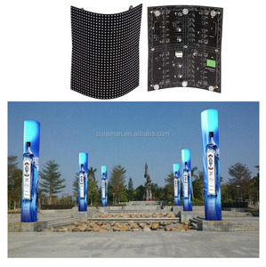 best price p10 p12 p16 p20 3g advertising led display light weight any shape soft video led display