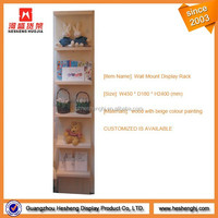 wood material plastic toy display shelf design store for toys display