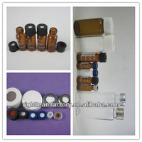new design glass autosampler vials with PTFE silicone with Screw Cap