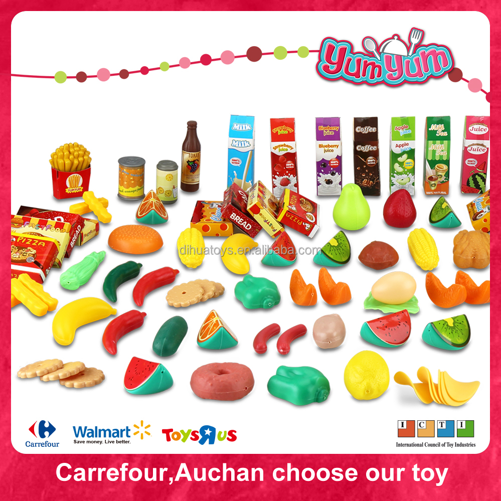 Environmental Product Plastic Food Toy with Mini Fruit Set