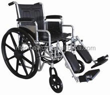 heavy duty chrome plating manual wheelchair with steel frame