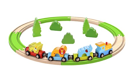 3+ Chrildren Play 20pcs Toys Wooden Train Set
