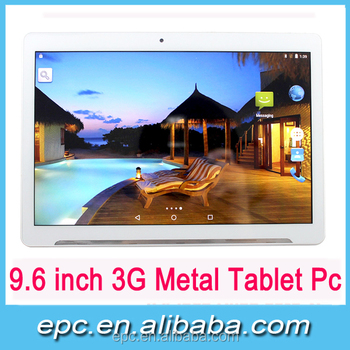 9.6 inch metal Tablet PC Quad core MT6580 Android 5.1 back camera 5MP 1+32G in stock