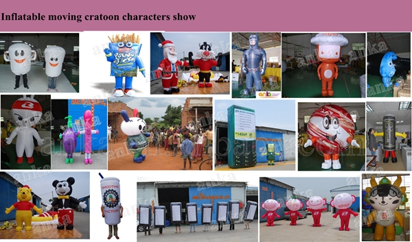 Advertising cartoon characters inflatable walking mini mobilephone