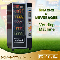 Small size mineral water and orange juice auto combo vending machine at factory
