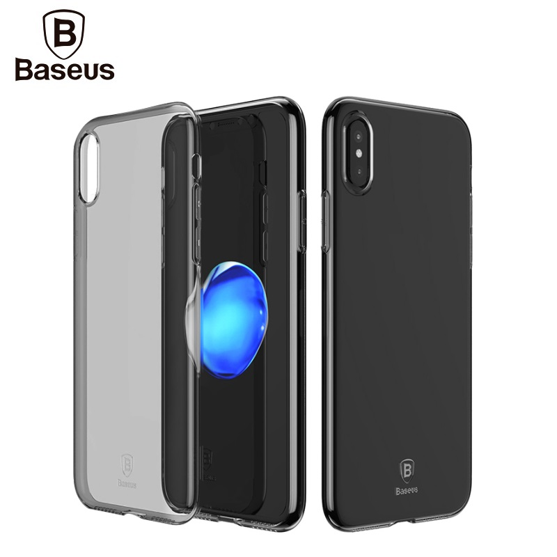 Baseus Original Slim Series Clear Clean TPU Soft Mobile Phone Back Cover Covers Case For iPhone X 8 7 plus