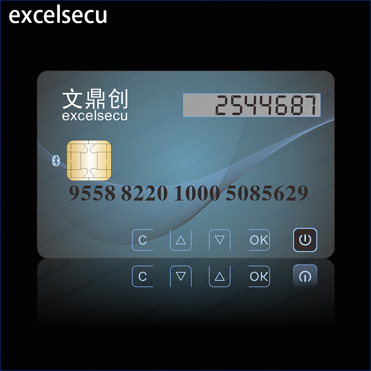 ESECU High Security CPU Chip LCD Card One Time Password Bank Credential Debit Java Card Smart Display Card