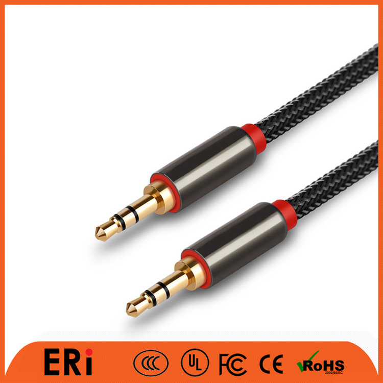 Factory sales top quality micro flat audio cable, custom length 3M jack audio cable