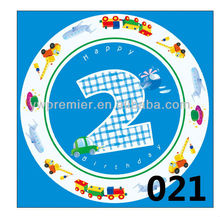 Boy`s 2nd brithday party plates