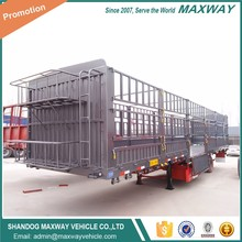 3 axles 40 feet fence semi livestock trailers for animal transport