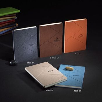 Custom A5 A6 soft pu leather bound notebook with logo debossed