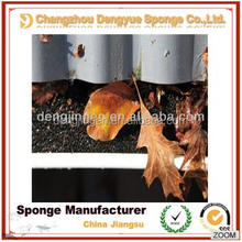 Black open cell water/rain/snow eave gutter filter foam,air filter polyurethane foam