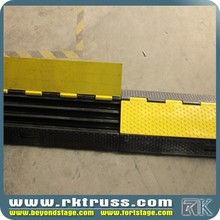 RK 3 channels rubber cable protector /portable car hydraulic ramps