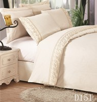 lace embroidery poly cotton textile queen size bed sets sheet