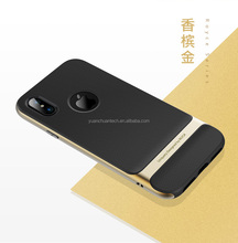 Original ROCK Royce Series Ultra Slim Armor TPU+PC Back Case With Holder Cover For iPhone X PR-181