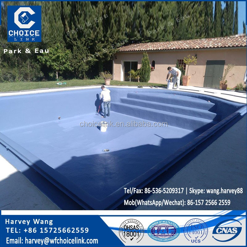 UV resistant acrylic liquid rubber waterproof coating for swimming pool