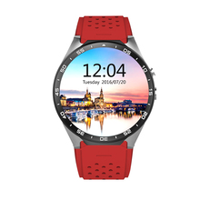 New Arrival KW88 Round Screen Smart Watch 2017 GPS Watch Phone Android WIFI Bluetooth 3G Smartwatch With SD card