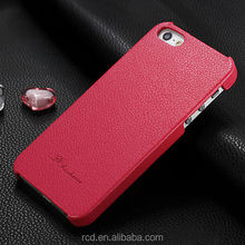 Top Quality Genuine Cow Leather Back Hard Cover Case for IPhone 5 5S 4 4S Lychee Skin HLC0015
