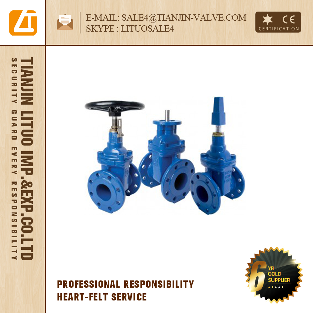 ductile iron cast iron non rising stem gate valve