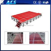 40 x 40 feet outdoor stage roof truss system with sound wings