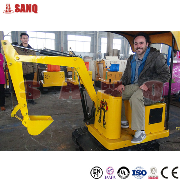 Amusement park ride on excavators for kids