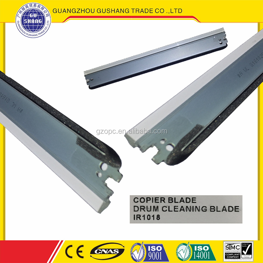 New compatible IR 1018 Copier Wiper Blade for canon IR 1022 drum cleaning blade importing goods from china