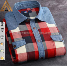 Best shirt manufacturers stitching styles 100% cotton flannel printed long sleeve shirt men