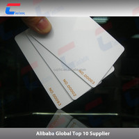 Printable Credit Size RFID PVC Smart IC Cards With 13.56mhz