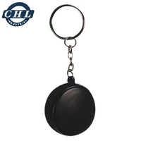 PU foam squeeze anti stress ice hockey keyring