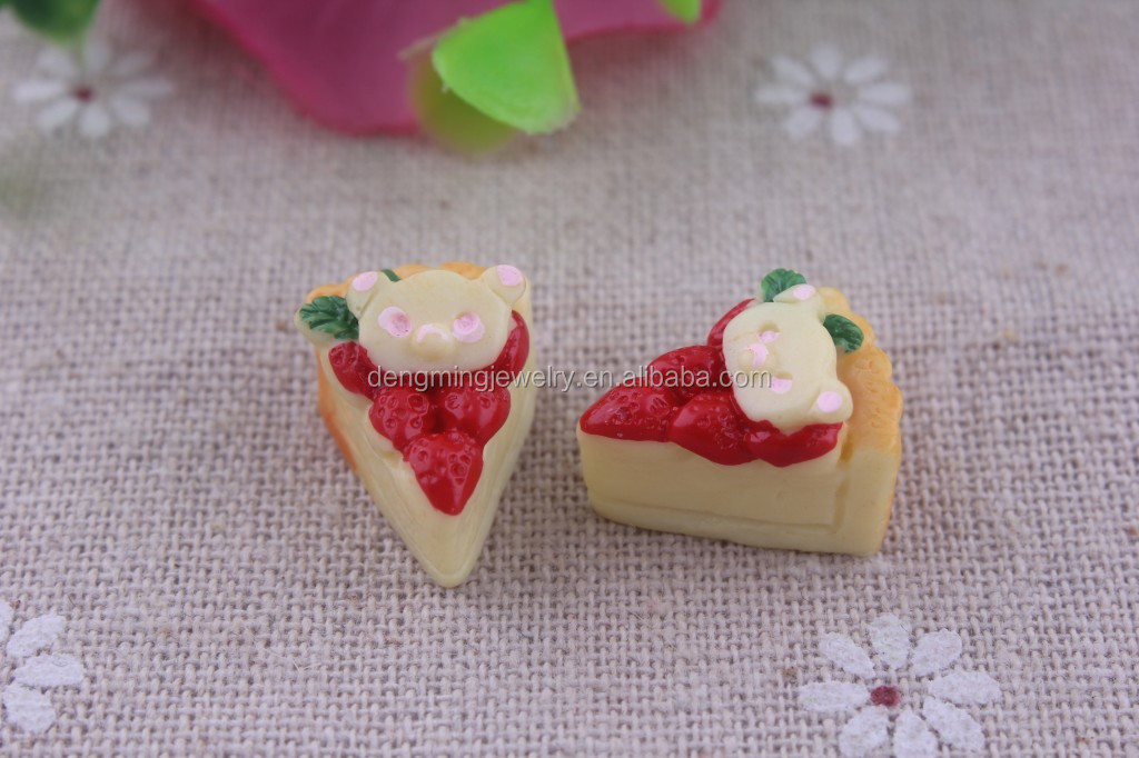 2014!!! Mix Styles Flat back Resin Dessert Cabochons Resin Food Jewelry / Mobile phone DIY Accessory