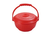 Plastic Supermarket Shopping Basket With Handle And Lid