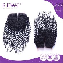 Fashion Style Professional Produce Affordable Price Virgin Human Hair Curls With Closure