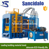 interlocking brick making machine for small family to do business, fly coal ash hollow mechanical brick machine