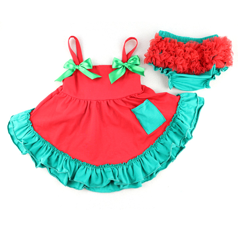 New Summer 2014 Princess New Born Baby Girls Dress Set/Clothing Bowknot Flower Printing Infant Party Dresses/Clothes