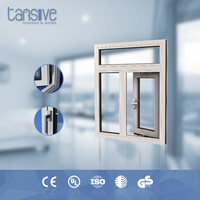 Modern house aluminium double glazed insulation layer thickness window