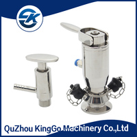 Sanitary ANSI 304 and 316L Stainless Steel manual and pneumatic Sample Valve