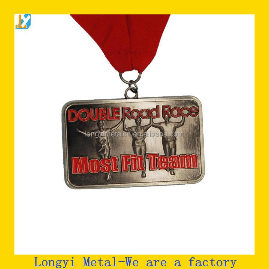 Customized Special 3D Metal Medal with Ribbon for Souveni/gold silver bronze medals design your own medal/