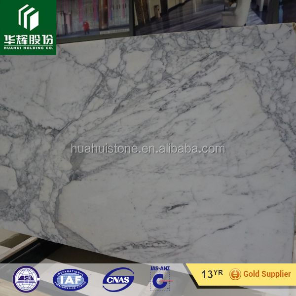 Stone statuario white marble slab and tile for interior master room
