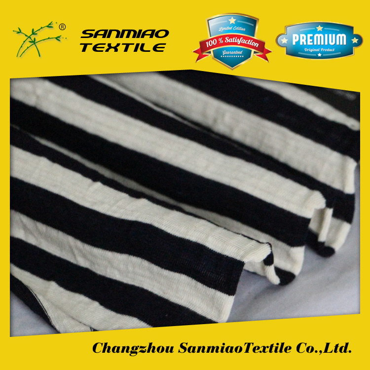 SANMIAO Brand 2015 new designs 2015 brown and white stripe fabric SBWHCP-165