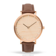 New Arrival 2018 ! Latest Design Original Wood Grain Dail Custom Logo Stainless Steel Back Mens Wrist Watches