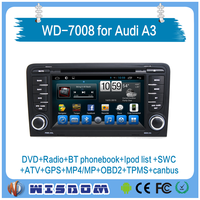 2016 new For AUDI A3 car dvd gps android 7 inch HD display multimedia Video car gps navigator support bluetooth fm radio wifi 3g