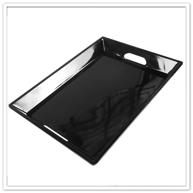 Wholesale high quality solid color large melamine serving tray